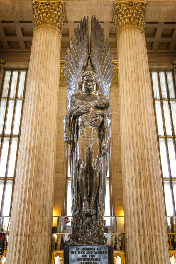 Railroad Memorial, 30th Street Station, Philadelphia, Pennsylvania royalty free stock image