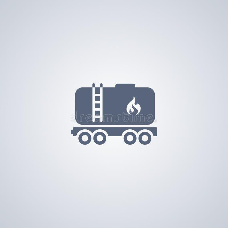 Railroad oil petroleum tank. Gasoline transportation, vector best flat icon royalty free illustration