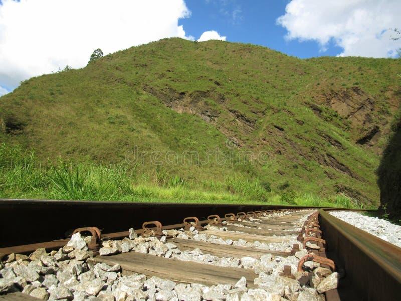 Railroad in Ouro Preto stock photo