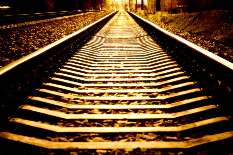 Railroad perspective royalty free stock photo