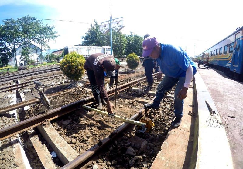 Railroad repairs stock photos