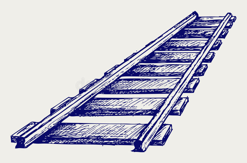 Railroad sketch vector illustration