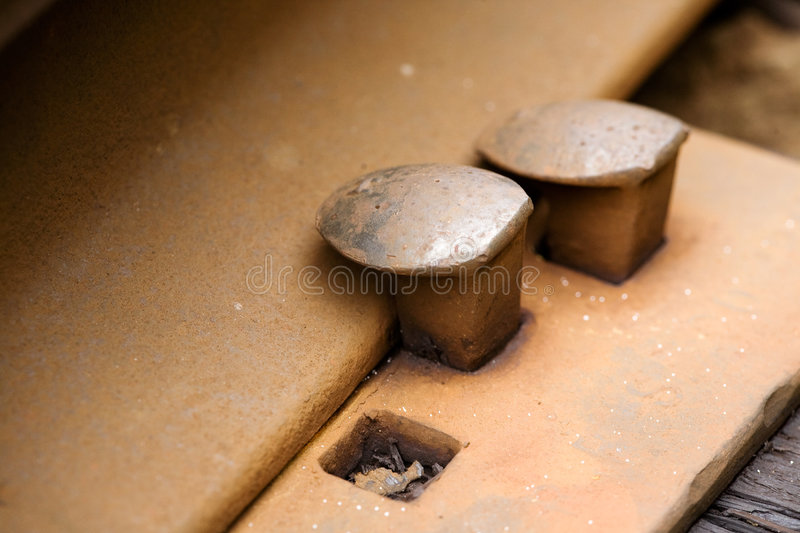 Railroad Spike Stock Image
