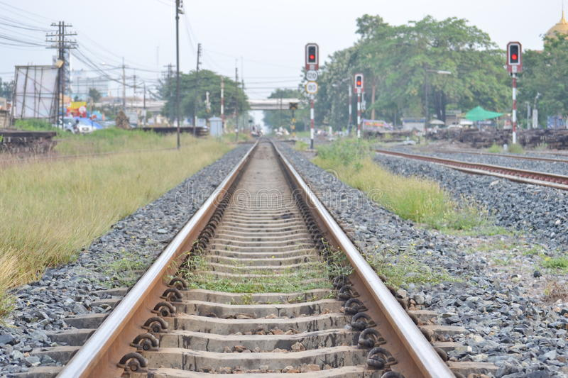 A railroad. The State Railway of Thailand (SRT) isthe state-owned rail operator in Thailand.The network serves around 44 million passengers per year(2014 stock images