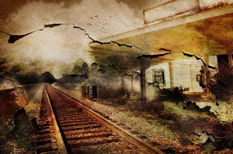 Download Railroad station stock image. Image of rail, landscape - 23355307