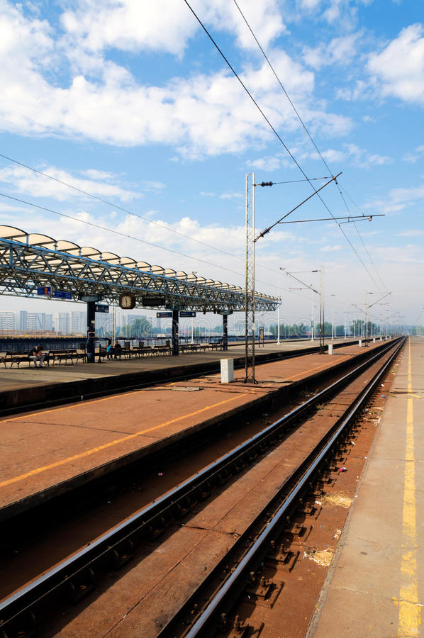Railroad station stock photography