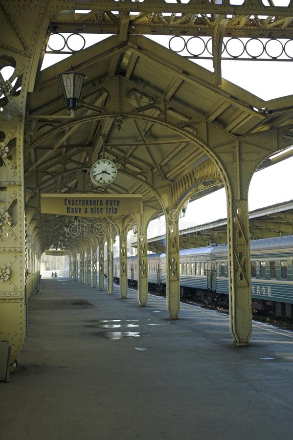 Railroad station - 5 royalty free stock photo