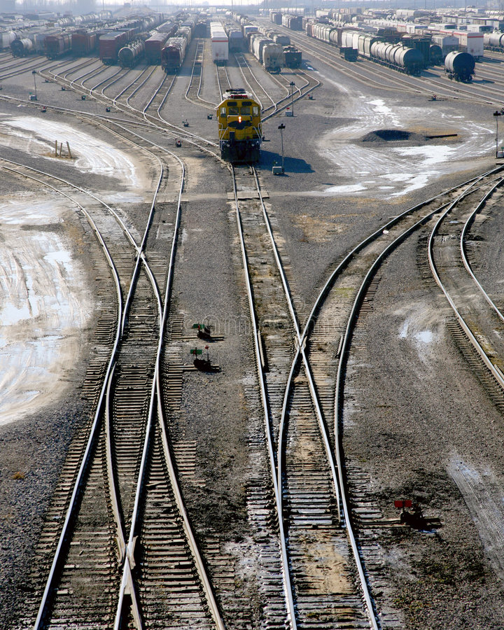 Download Railroad switch yard stock image. Image of switch, rails - 4100573