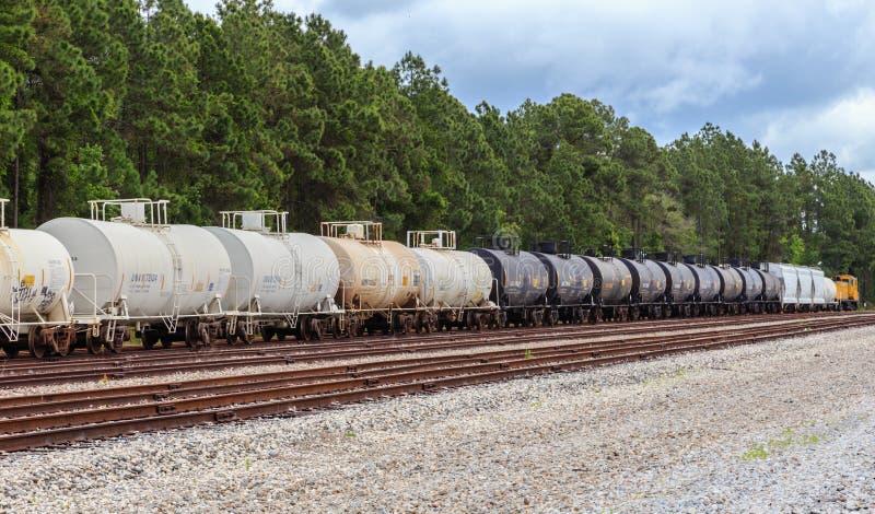 Railroad Tank Cars royalty free stock photo