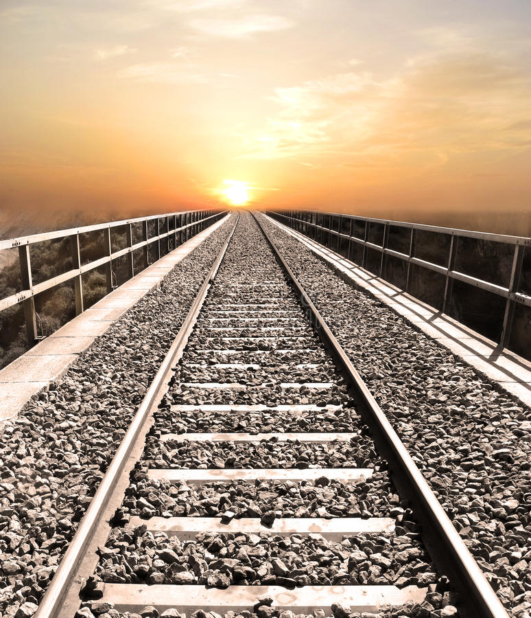 Download Railroad to heaven stock image. Image of outdoor, image - 14829377