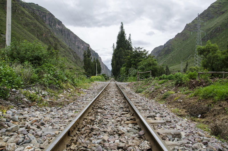 Railroad to Machu Picchu stock images