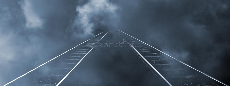 Railroad to nowhere stock photos