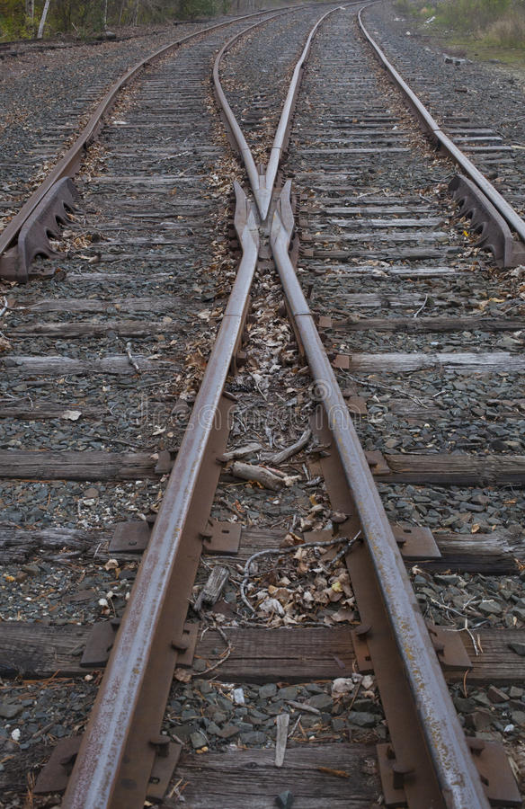 Download Railroad Track Switch stock image. Image of rail, metal - 34791171