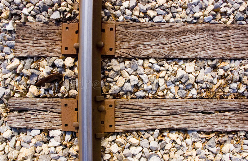 Download Railroad track and ties stock image. Image of abstract - 7757719