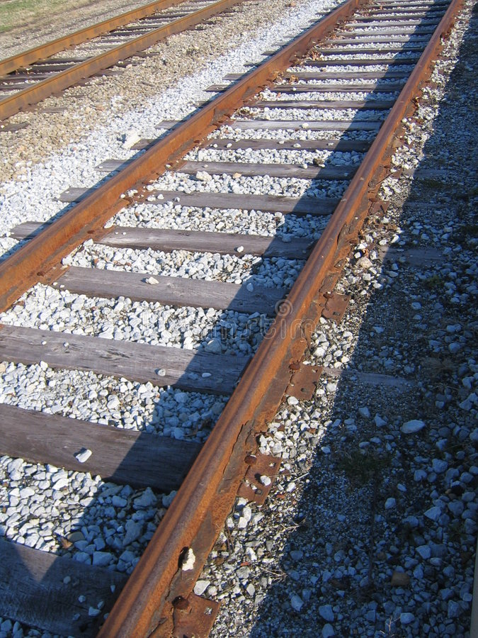 Download RailRoad Tracks stock photo. Image of trip, going, gravel - 116254