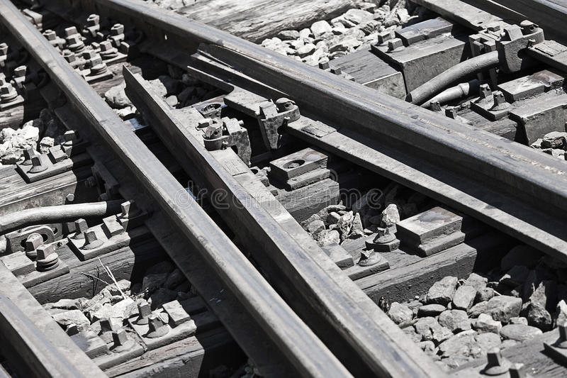 Download Railroad tracks stock photo. Image of siding, tracks - 18004074