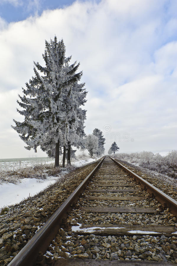 Download Railroad tracks stock photo. Image of cold, polish, snow - 18094752