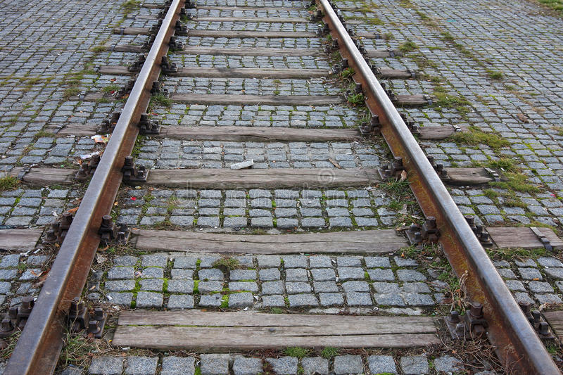 Download Railroad tracks stock photo. Image of perspective, path - 23048414