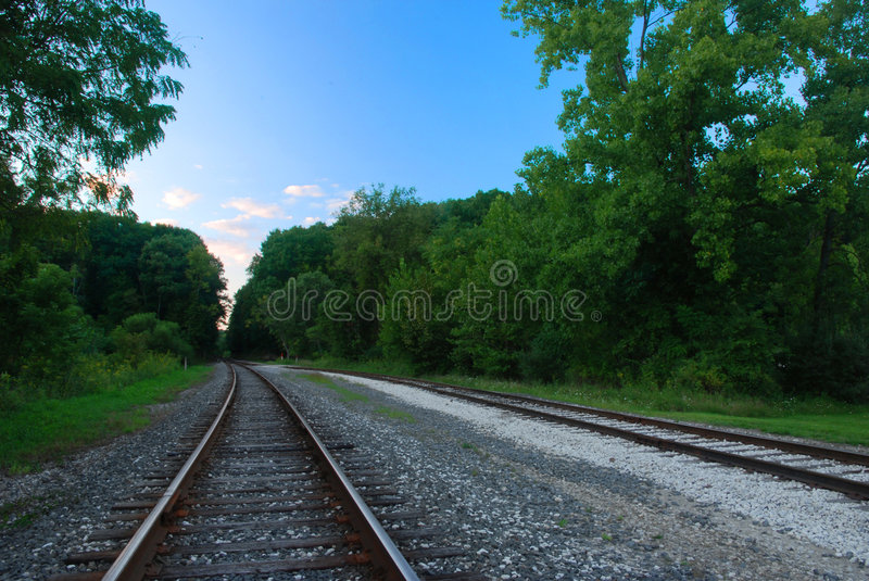 Download Railroad tracks stock photo. Image of gravel, perspective - 3107198