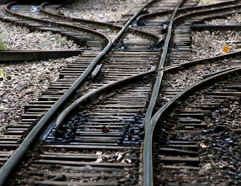 Railroad tracks stock image