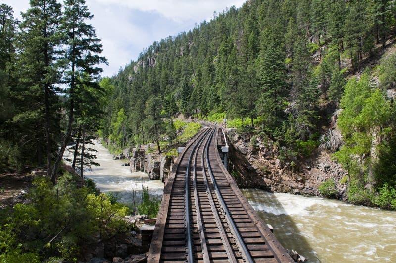 Railroad tracks royalty free stock photo