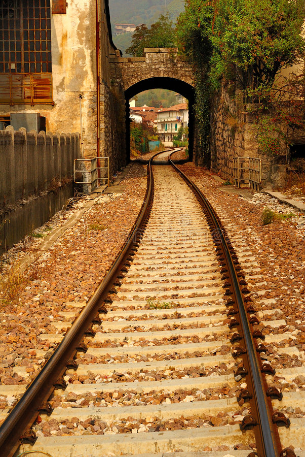 Free Railroad Tracks And Archway Stock Image - 6883631