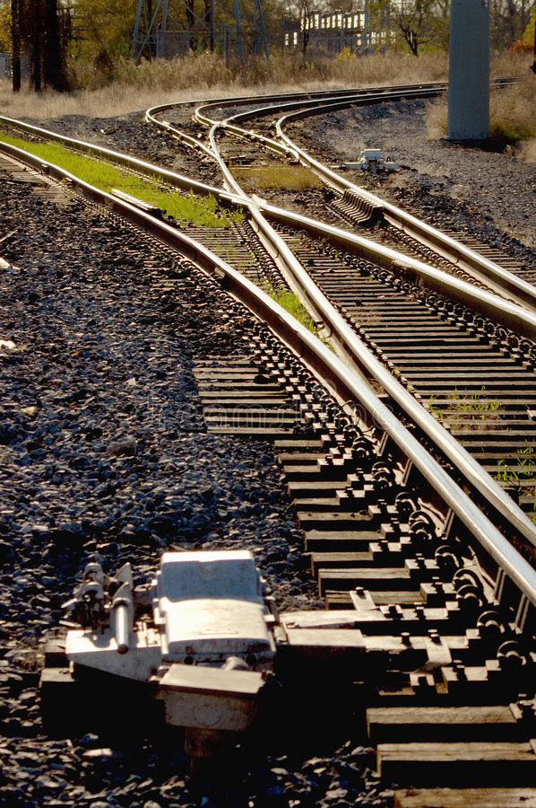 Free Railroad Tracks And Switches Royalty Free Stock Images - 5005409