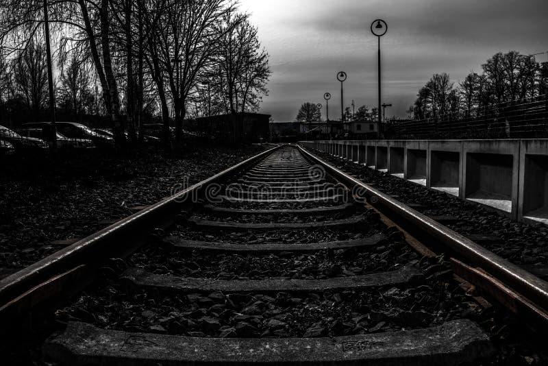 Railroad Tracks In Black And White Free Public Domain Cc0 Image
