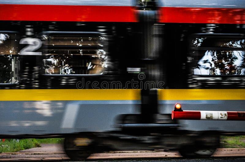 Railroad tracks, Poland, Lodz stock photos
