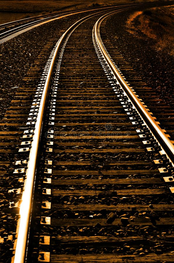 Railroad Tracks for Transportation and Shipping royalty free stock photos