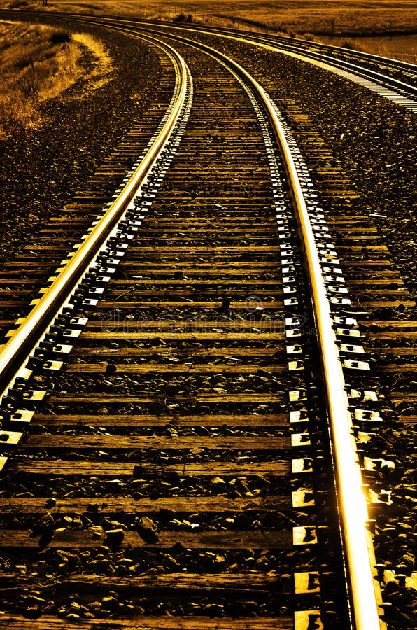 Railroad Tracks for Transportation and Shipping royalty free stock photography