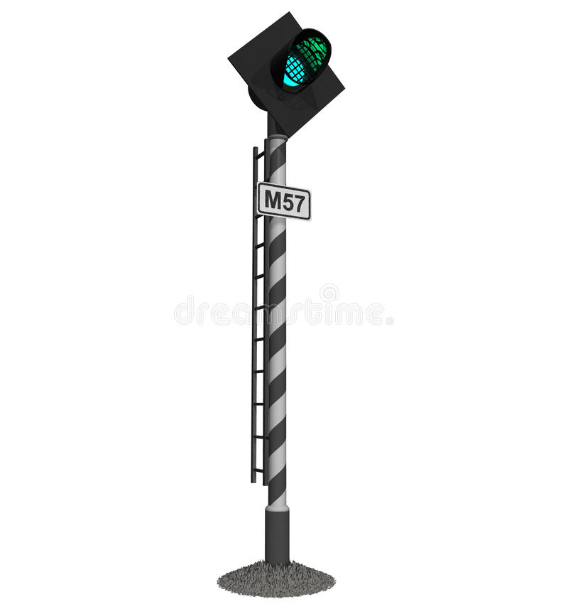 Railroad Traffic Light Royalty Free Stock Images