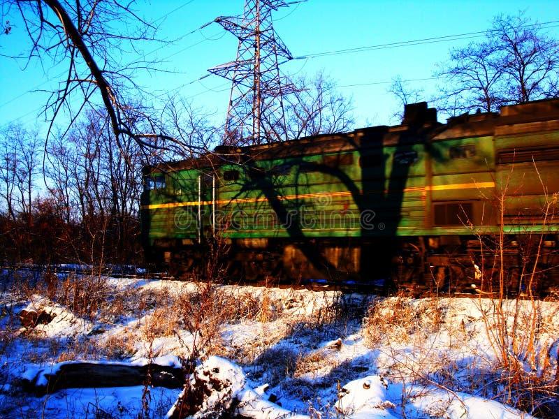 Railroad travel passenger train with motion blur effect. Industrial concept, tourism stock image