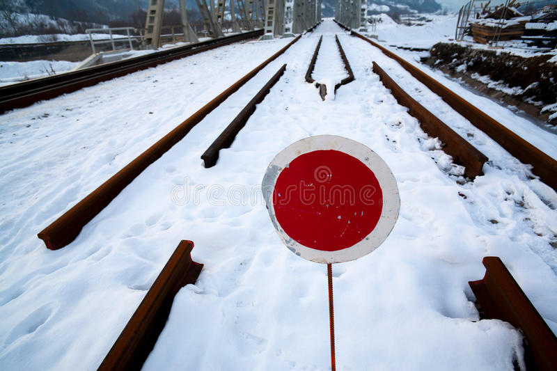 Railroad Under Construction Royalty Free Stock Photo