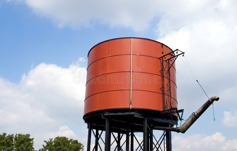 Railroad water tank stock photography