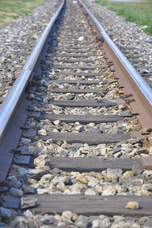 Railroad way leading forward stock image