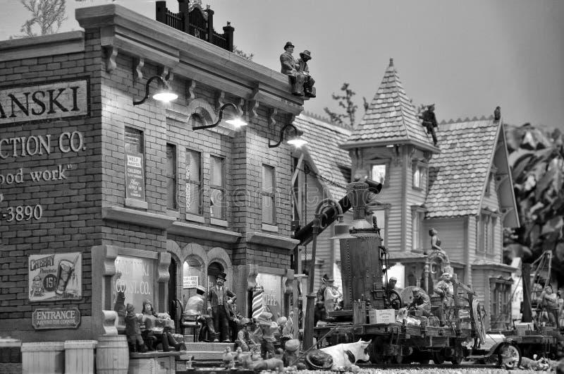 Railroading modèle dans l'échelle de G images stock