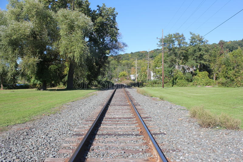 Railroadnsporen stock afbeelding