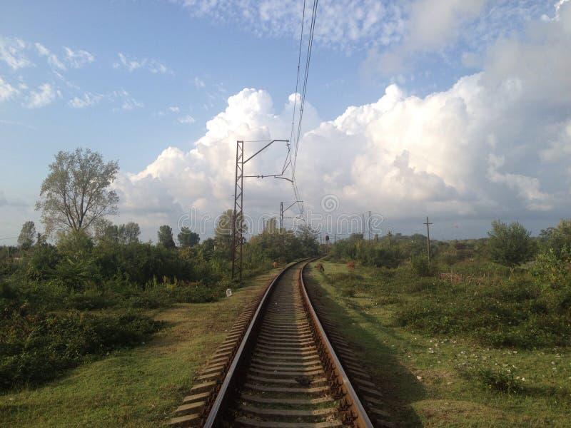 Railroadtracks in Georgië stock foto's