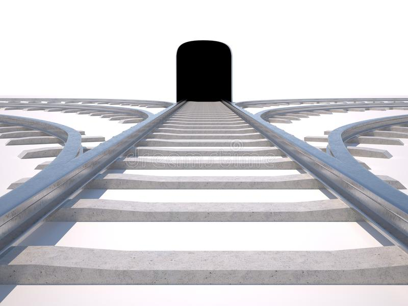 Rails. Aspiring to give a way choice stock images
