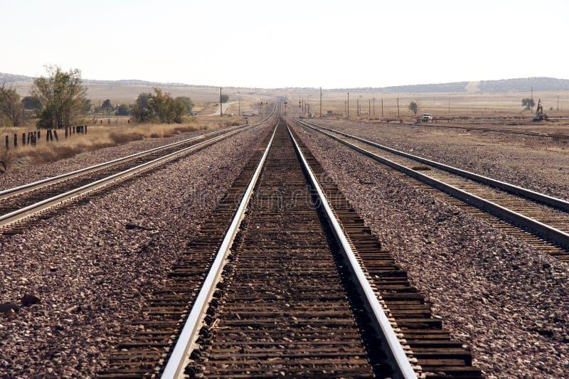 Rails. Endless rails in the desert - Utah, USA royalty free stock photo