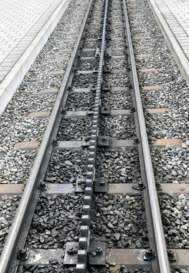 Free Rails And Platforms Of A Swiss Cogwheel Railway Royalty Free Stock Photo - 12009055