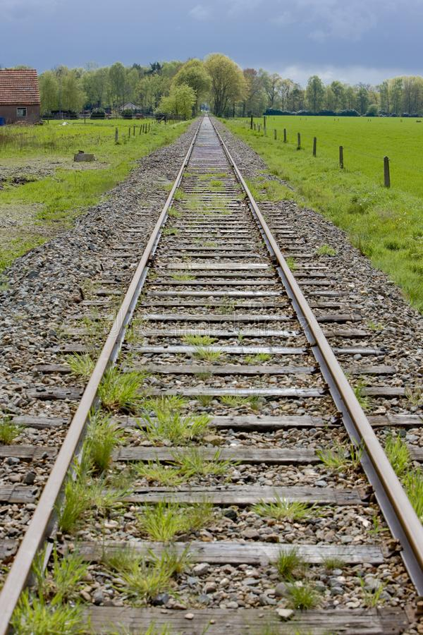 rails, Boekelo - Haaksbergen, Pays-Bas photos stock