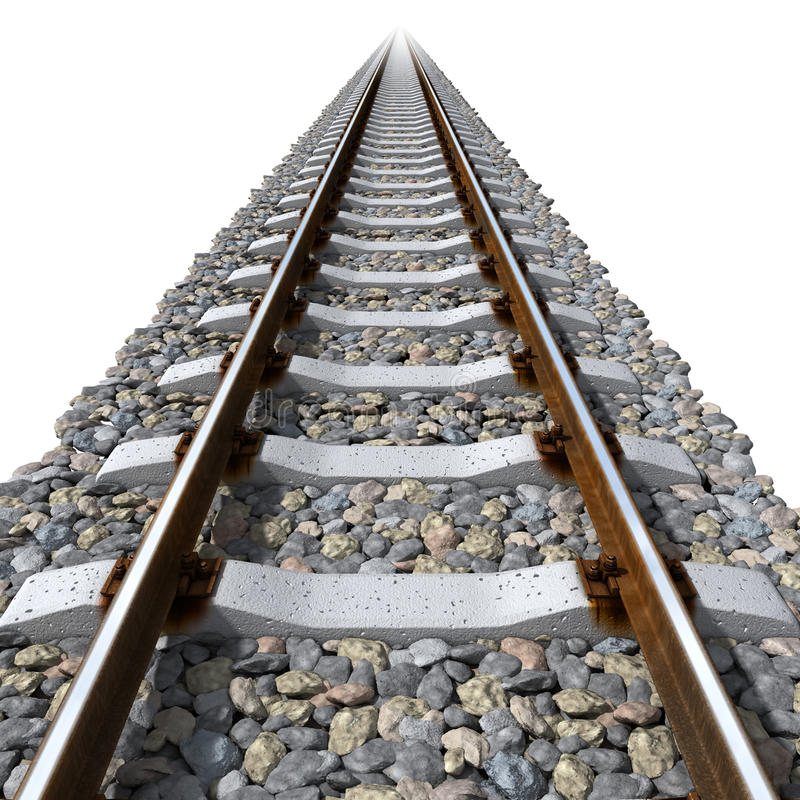 Download Rails Lines On Concrete Sleepers Stock Illustration - Image: 16939638