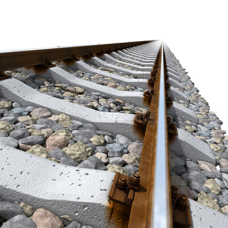Download Rails Lines On Concrete Sleepers Stock Illustration - Image: 16939655
