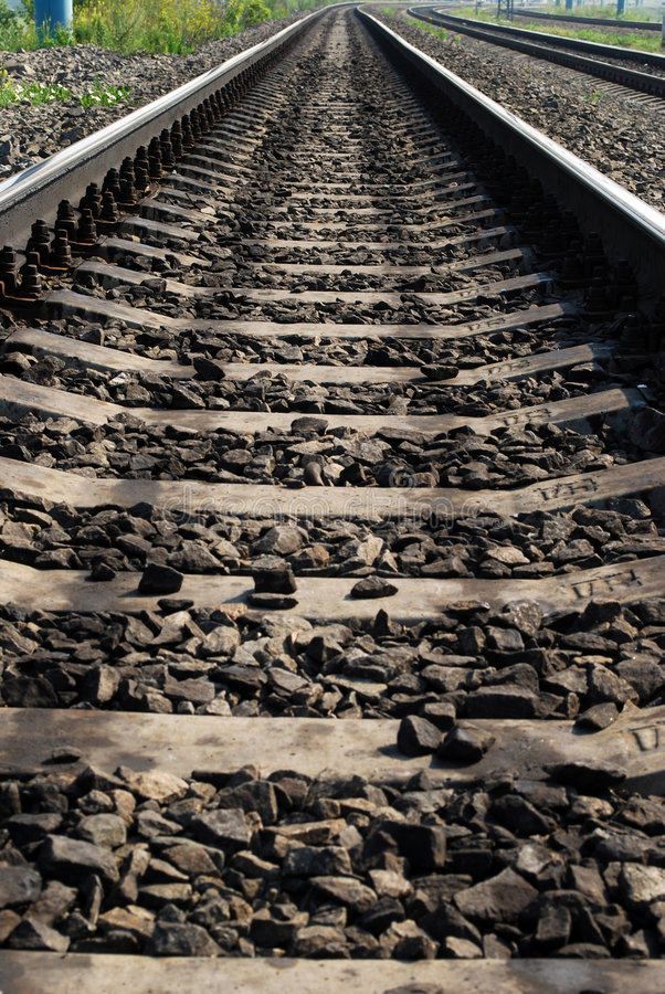 Free Rails On The Bank Stock Images - 5868244