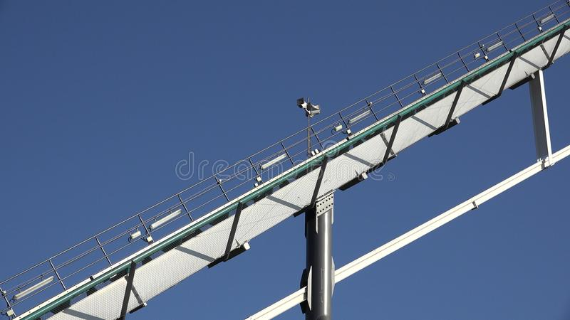 Rails Of Roller Coaster royalty free stock images