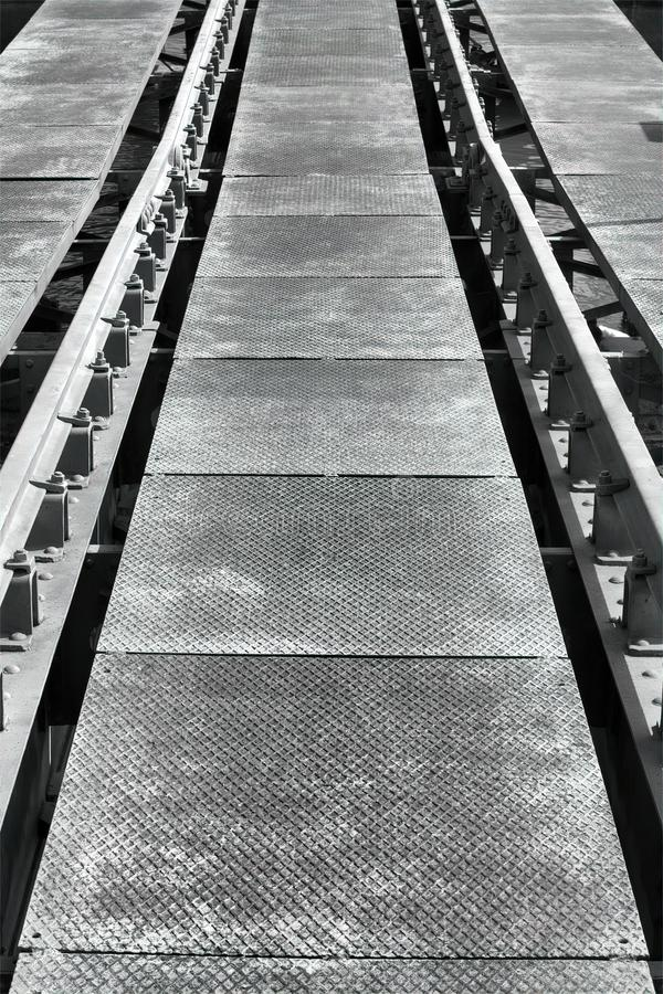 Rails in a sea port for the storage of boats. Rails in a sea port for the storage boats royalty free stock images