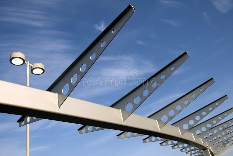 rails skyen royaltyfria foton