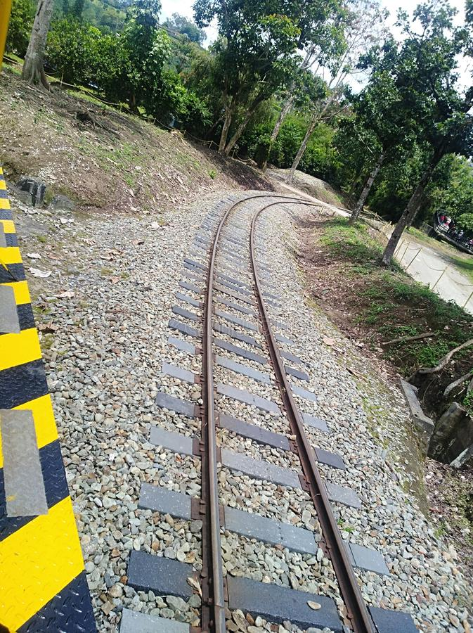 The rails. That take you to quindio royalty free stock photos
